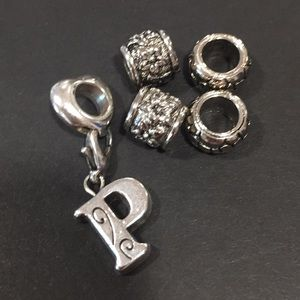 Brighton P charm and spacers